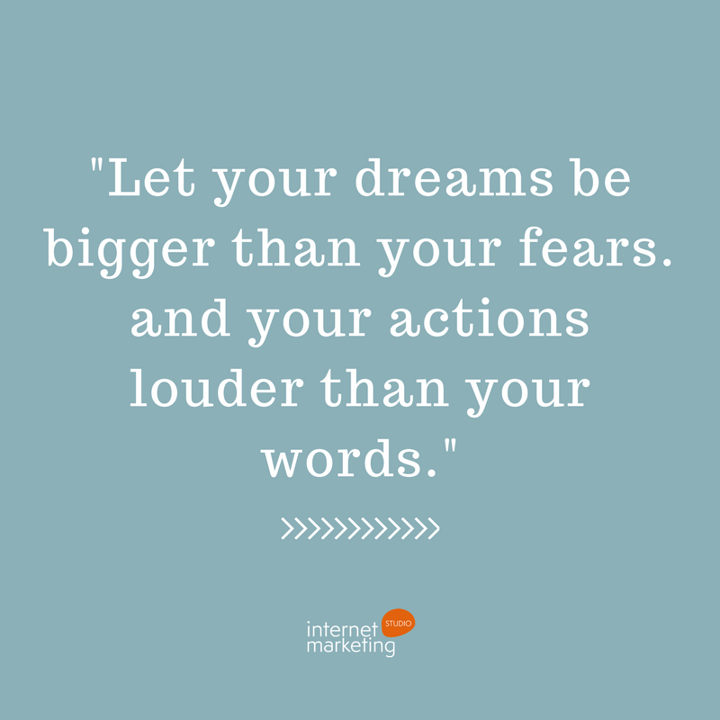 """Inspirational Quotes Motivation: """"Let Your Dreams Be Bigger Than Your Fears. And Your"""
